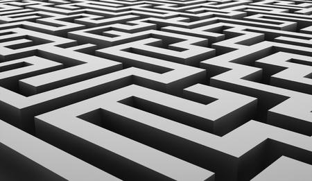 Silver labirinth business concept rendered