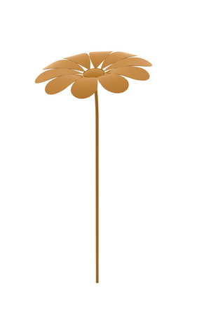 Abstract flower rendered isolated on white background