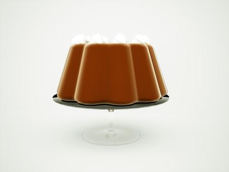 torte: Torte cake on glass concept rendered