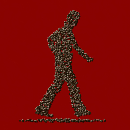 Coffee man from coffee beans generated