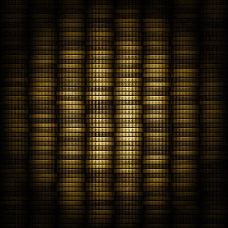Coins background texture generated on black