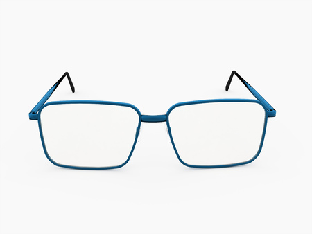 Glases on white background rendered isolated Stock Photo