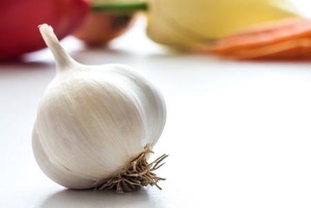 Garlic close up healthy concept. Vegetable healthy nutrition.