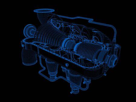 balon: gas turbine in 3d