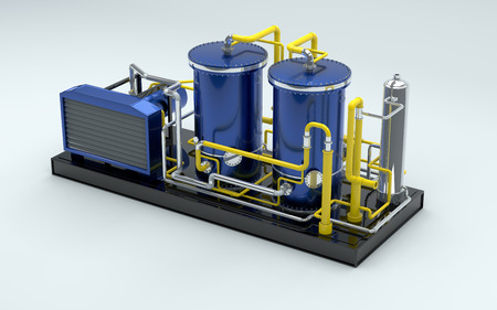 gas pipe: gas turbine in 3d