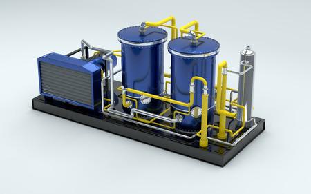 turbina: turbina de gas en 3d