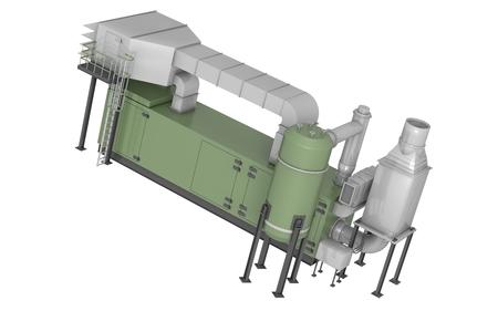 gas turbine: gas turbine in 3d