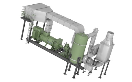 liquefied: gas turbine in 3d