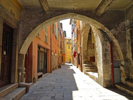 Villefranche-sur-Mer old town alley Stock Photo - 14937672
