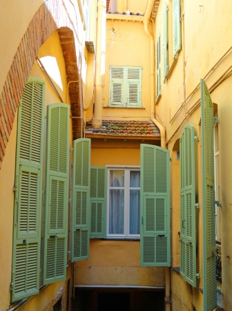 Villefranche-sur-Mer mediterranean windows with shutter Stock Photo - 14937673