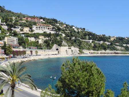 Villefranche-sur-Mer mediterranean landscape Stock Photo