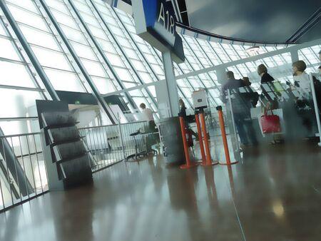 Nice Airport gate, passenger