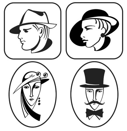 secession: Lady and man pictogram