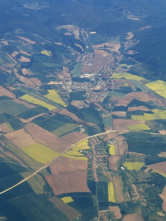 Aerospace Europe from airplane