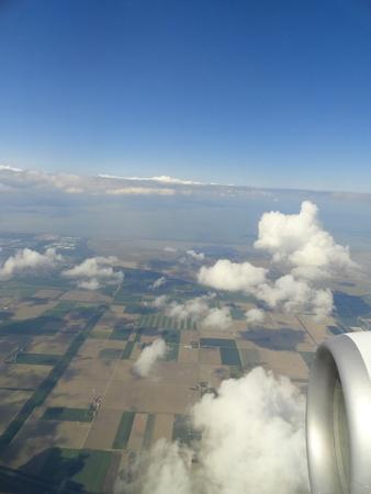 Aerospace Europe from airplane