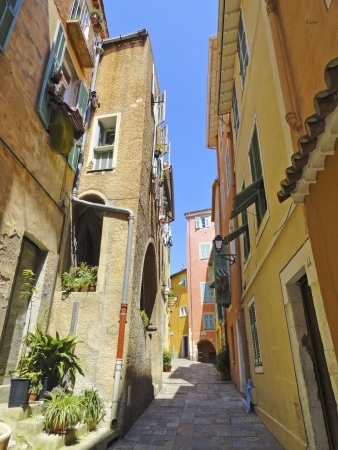 Mediterranean street in Villefranche-sur-Mer Stock Photo - 15437146