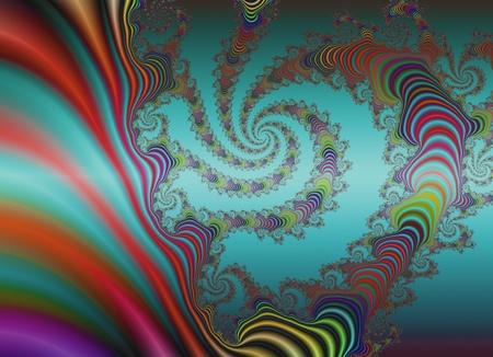Turquoise fractal background Stock Photo