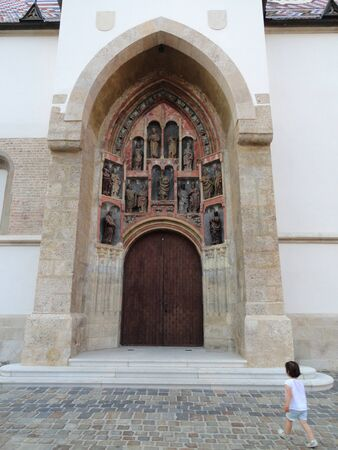 Gate of St  Mark s Church in Zagreb - Croatia