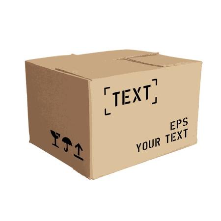 merchandize: cardboard box