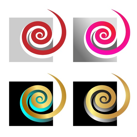 spirals in square Illustration
