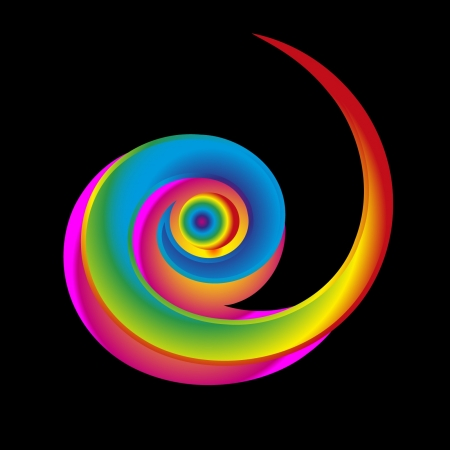 rainbow circle: colorful spiral