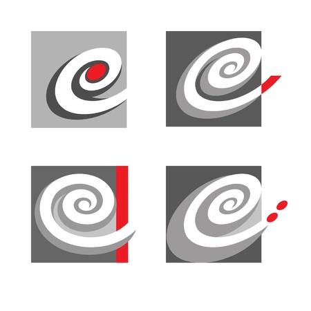 spiral e letter