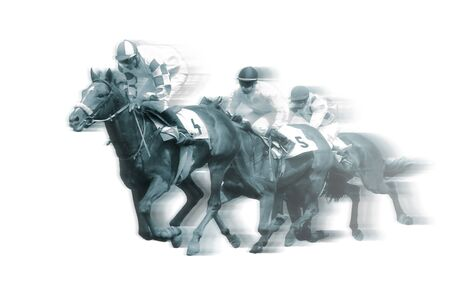 Horserace illustration isolated