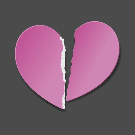 Heartbreak, end of love Vector