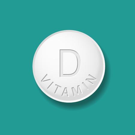 Vitamin D tablet Illustration