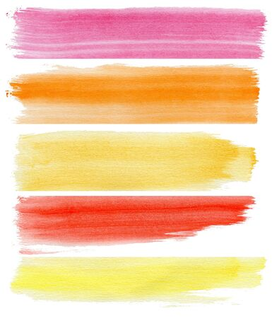 colorful watercolor banners, may use as background for your design photo