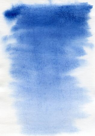 watercolor technique: abstract blue watercolor background on white