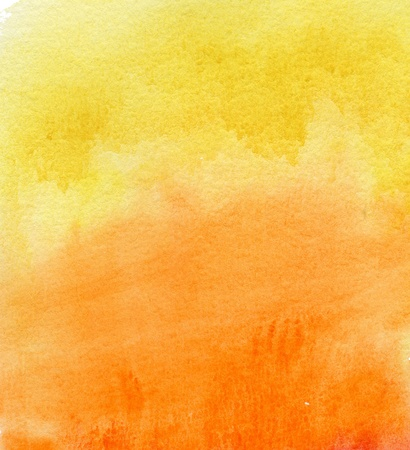 abstract yellow and orange watercolor background photo