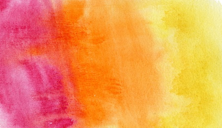 abstract purple  and orange watercolor background photo