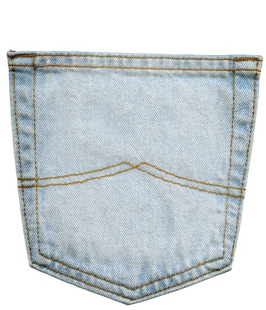 back pocket: Back Pocket of Jeans, isolated on white
