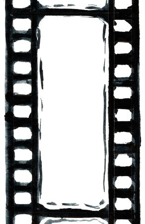 format: Grunge film strip illustration for your design