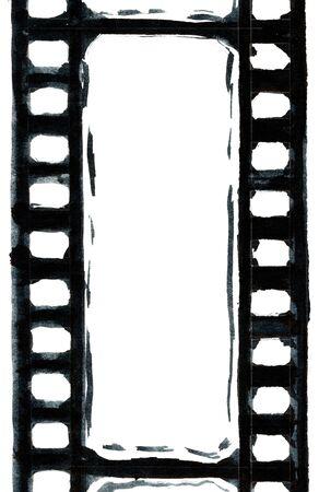 format: Grunge film strip illustration for your design