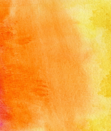 Abstract yellow, red and orange watercolor background photo