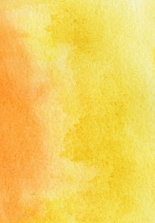 watercolor paper texture: Abstract yellow, red and orange watercolor background