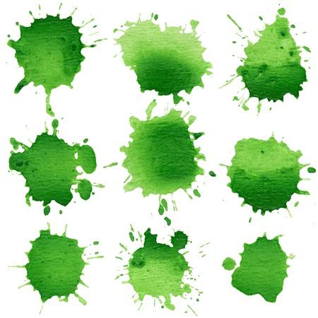 Sada akvarelových kuličky, izolovaných na bílém pozadí Reklamní fotografie