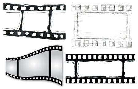 Grunge film strip illustrations for your design Stock Illustration - 11726586