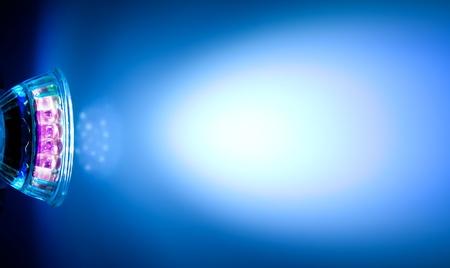 Modrý paprsek LED lampa