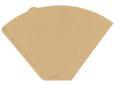 new filter: Coffee filter isolated on white background