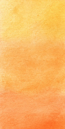 watercolor technique: abstract yellow and orange watercolor background Stock Photo