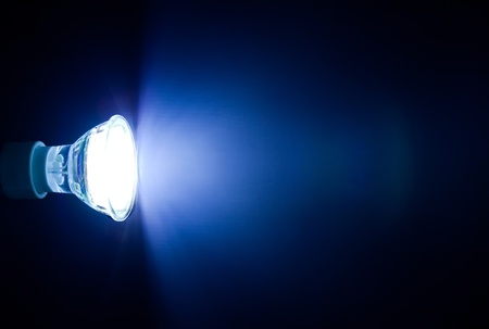 Blue beam of led lamp  photo
