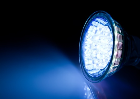 Blue beam of led lamp  Stock Photo - 12997109