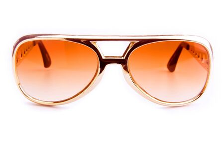 protective spectacles: Brown sunglasses isolated on the white background