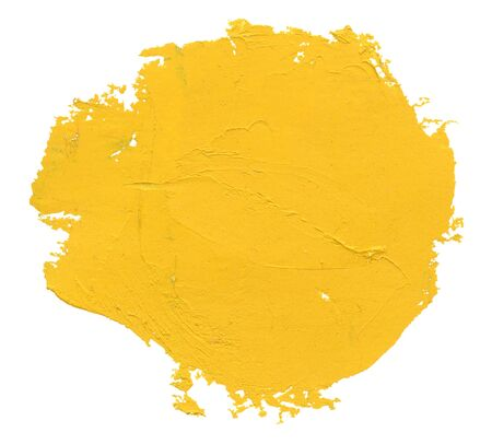 Yellow watercolor blob, isolated on white photo