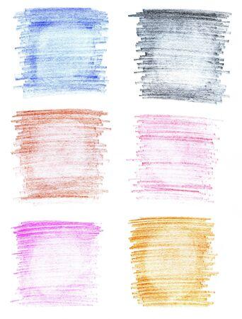 Abstract handmade vaus crayon backgrounds Stock Photo - 18904466