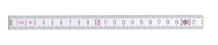 cintas metricas: Cerca de un gobernante carpintería en el fondo blanco Foto de archivo