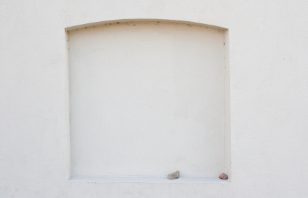 Arched window frame on the wall Stock Photo - 18904383